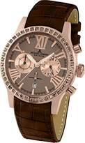 Jacques Lemans Ladies Watch Porto 1–1810E Analogue Display and Gold Leather