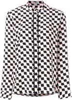 Kenzo geometric print shirt - women - Silk - 34