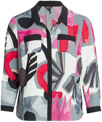 Nic + Zoe, Plus Size Masterpiece Printed Blouse