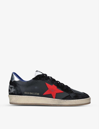 Golden Goose Ball Star distressed leather trainers