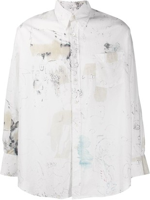 Our Legacy abstract print shirt