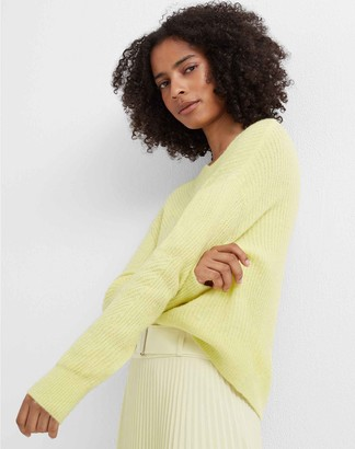 Club Monaco Ribbed V-Neck Sweater