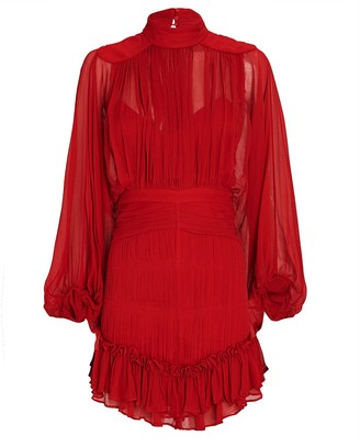 Shona Joy Clemence Chiffon Mini Dress