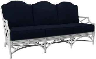 David Francis Furniture Chippendale Outdoor Sofa - Navy Sunbrella