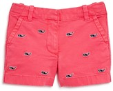 Vineyard Vines Girls' Whale Embroidered Shorts