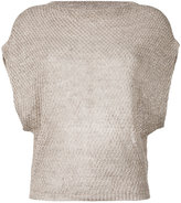 Eleventy knit dolman sleeve top - women - Linen/Flax - M
