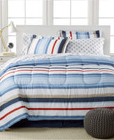 Sunham Highline 8-Pc. Reversible King Bedding Ensemble