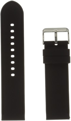Hadley Roma MS3359RA 240 Black Silicone Watch Band