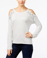 INC International Concepts Embellished Cold-Shoulder Top, Only at Macy's