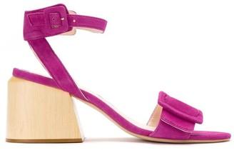 Framed Leather Sandals