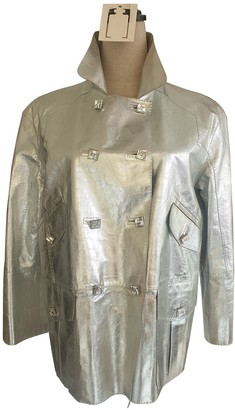 Louis Vuitton Silver Leather Jackets