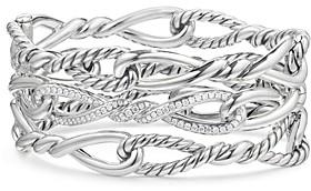 David Yurman Continuance Multi-Row Cuff with Diamonds