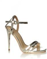 True Decadence Mirror Metallic Sandals