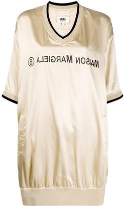 MM6 MAISON MARGIELA Logo Print Sweatshirt Dress