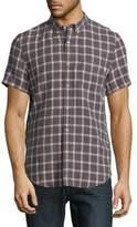 Timberland Slim Fit Linen Button-Down Shirt
