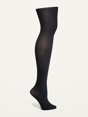 Old Navy Control-Top Solid-Color Nylon Tights for Women