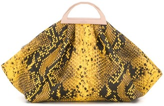 THE VOLON Snakeskin Print Tote