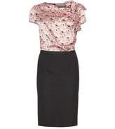 Nina Ricci SILK AND STRETCH-JERSEY DRESS