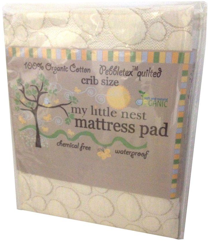 Green Baby My Little Nest Pebbletex Quilted Organic Cotton Waterproof Crib Mattress Pad