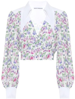 Paco Rabanne Floral-printed blouse