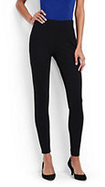 Lands' End Women's Ponte Leggings-Black Textured Jacquard