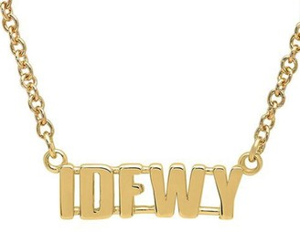 Established IDFWY Phrase Yellow Gold Chain Necklace