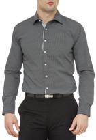 Geoffrey Beene Fly Screen Mesh Print Super Slim Fit Shirt