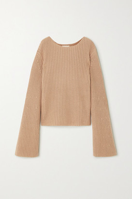LOULOU STUDIO Tumaraa Ribbed Cotton And Cashmere-blend Sweater - Camel