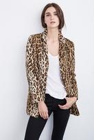 Celine Faux Fur Leopard Coat