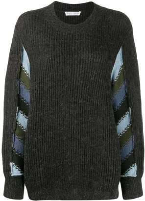 J.W.Anderson horizontal striped knitted sweater