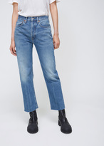 RE/DONE Medium Wash High Rise Stovepipe Jean