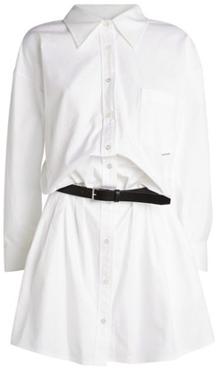 Alexander Wang Belted Mini Shirt Dress