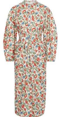 Emilia Wickstead Zilda Floral-print Silk And Wool-blend Twill Midi Dress