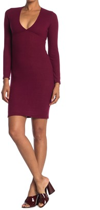 Velvet Torch Long Sleeve Empire Sweater Mini Dress