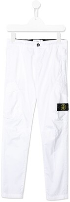 Stone Island Junior Logo Patch Trousers