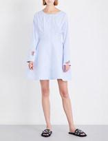 Natasha Zinko Bead-embellished boat-neck cotton-blend dress