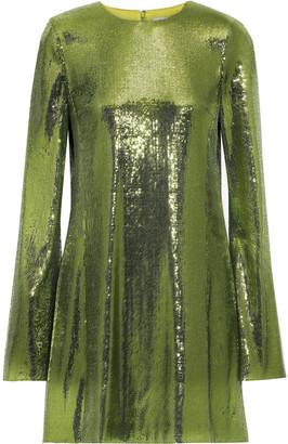 Galvan Galaxy Sequined Mesh Mini Dress