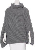 Dolce & Gabbana Wool-Blend Turtleneck Poncho