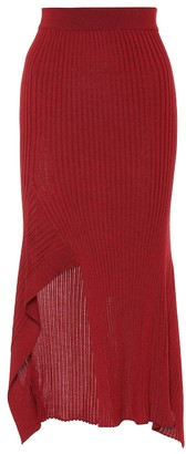 Stella McCartney Ribbed wool and silk skirt