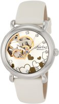 Stuhrling Original Women's 108E.Heart Aphrodite Charmed Heart-Shaped Open Dial Watch