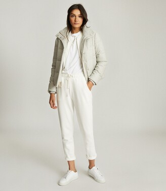 Reiss Isabel - Puffer Jacket in Pale Grey