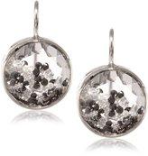 """Moritz Glik Kaleidoscope"""" 18K and 14k White Gold, Floating Black and White Diamond and Sapphire Earrings"""