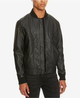 Kenneth Cole Reaction Men's Seamed Faux-Leather Bomber Jacket