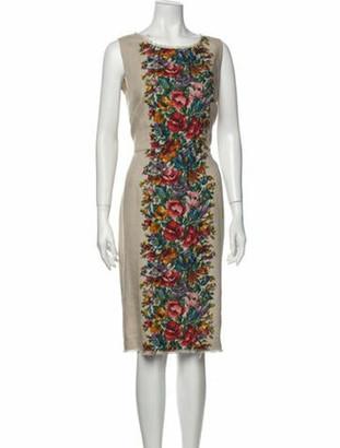 Dolce & Gabbana Linen Midi Length Dress