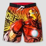 Iron Man Boys' Swim Trunk Black/Red