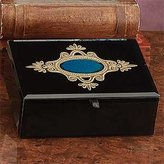Artico Jewelry Box Container Jewel Ring Holder Decoration Hand Painted Glass