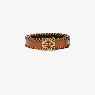 Loewe brown Anagram braided leather belt