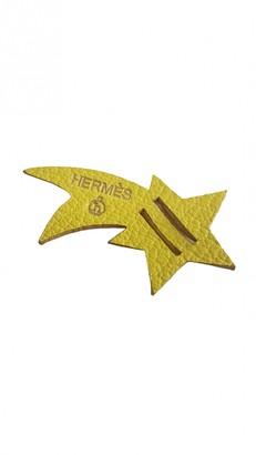 Hermã ̈S HermAs Yellow Leather Bag charms