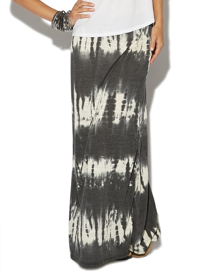 Wet Seal French Terry Tie Dye Maxi Skirt