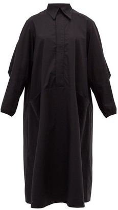 Toogood The Housekeeper Cotton-poplin Shirtdress - Black